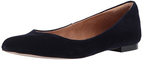 Opportunity Shoes - Corso Como Women's Julia Ballet Flat, Navy Kid Suede, 10 Medium US