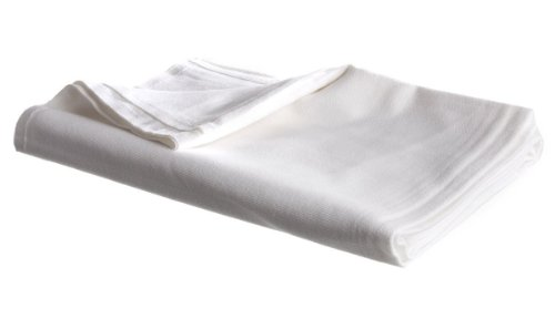 Linteum Textile Cotton-Blended Hospital Bath Blanket 70x90 in. 2 lb. (White)