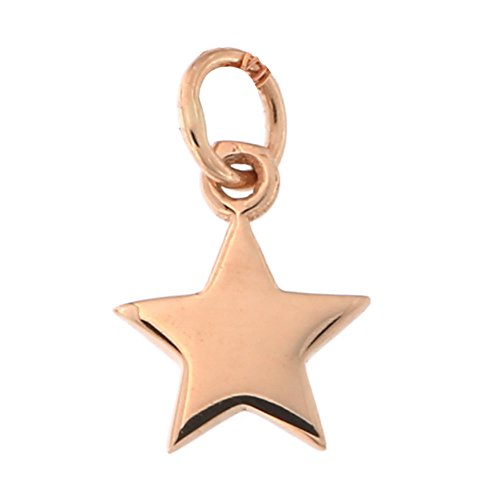 14k Rose Gold Tiny Star Pendant Necklace, pendant only