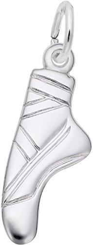 Rembrandt Ballet Slipper Charm - Metal - Sterling Silver