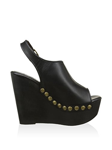 Jeffrey Campbell Snick 2 Black Calf - Zeppa con borchia