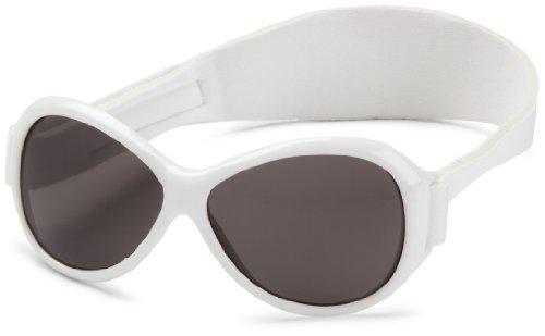 Baby Banz W White Retro Banz 0-2 years Wrap Sunglasses Size Baby by Baby - Retro Baby Banz Sunglasses