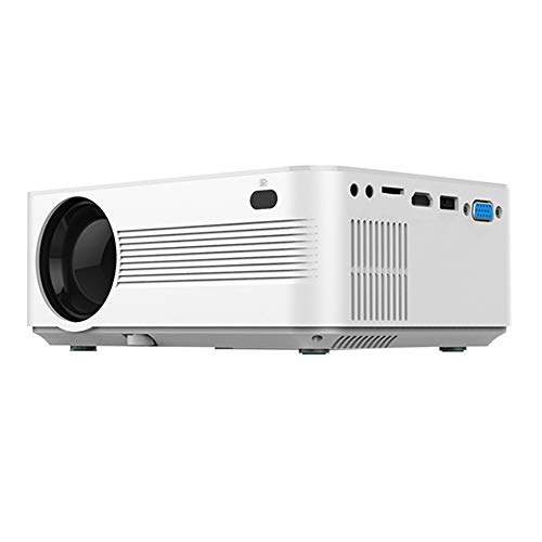 JVP600 Projector 4 inch LCD Screen 800480 1500:1 Contrast Ratio HD 1080P Home Theater, in VGA AV TF Card Slot, US Plug for Notebook Laptop DVD Player