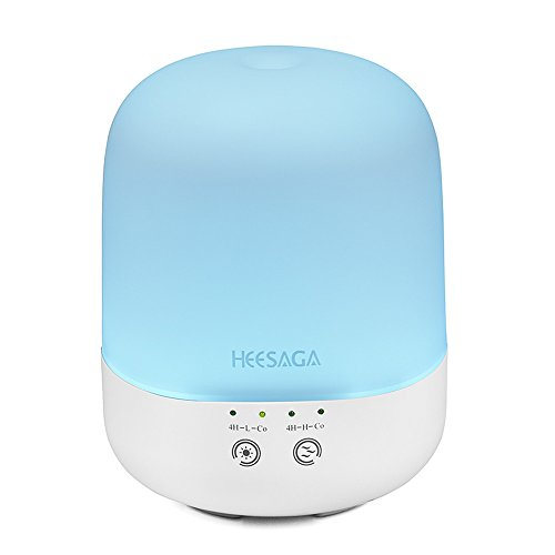 Price comparison product image HEESAGA Essential Oil Diffuser 300ml,  Aromatherapy Ultrasonic Cool Mist Humidifier with Touch Control and 7 Color Changing LED,  Waterless Auto Shut-off