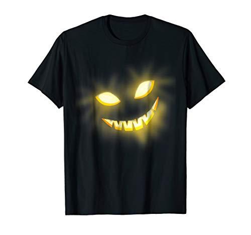 Glowing Scary Pumpkin Jack O Lantern Face