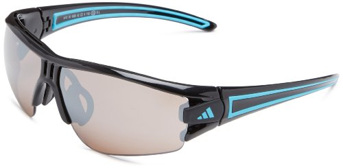 adidas Evil Eye Halfrim Xs Rectangular Sunglasses, Shiny Black/Blue, 62 - Sunglasses Eye Evil