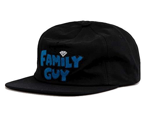 Diamond Supply Co. x Family Guy Unstructured Snapback Cap Black (The Hundreds X Diamond Supply Co Snapback)