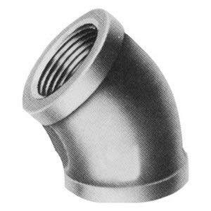 Galvanized Malleable Iron Elbow, 45°, 2