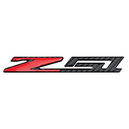 West Coast Corvette - Corvette C7 Z51 Badge Emblem - Domed - Carbon Fiber Look: C7 Stingray Z51 (6 - Corvette Z51