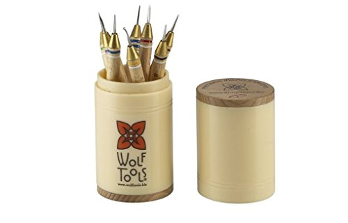 "Wolf Tools ""Wicked Sharp"" Micro Wax Carving Tools, Set of 8"