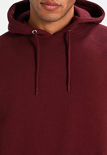 Yourturn Sweatshirt Sweat Tendance Homme En Confortable Sportif Bordeaux Pour Capuche À Et Longues Manches Coton Doux rqrdwXf