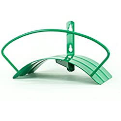 Yard Butler Deluxe Heavy Duty Wall Mount Hose Hanger Holds 125' of 5/8' Hose Solid Steel Extra Bracing and Patented Design in and Decorative Designs IHCWM-1GRN Green