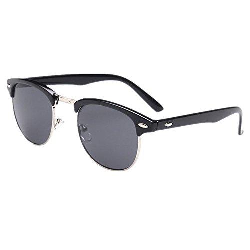 Shiratori Retro Classic Metal Half Frame Color Film Sunglasses - Glasses Color Frames
