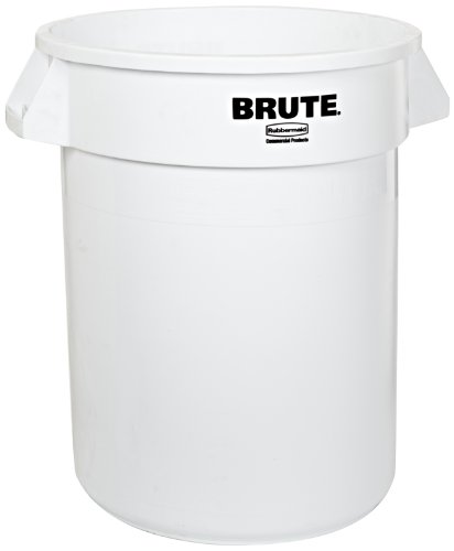 rubbermaid commercial brute trash can 10 gallon white fg261000wht new ebay. Black Bedroom Furniture Sets. Home Design Ideas