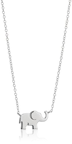 """Sterling Silver Elephant Necklace, 18"""""""