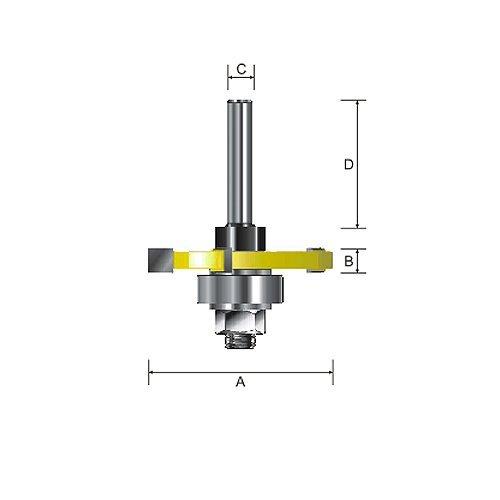 Kempston 704451 3-Wing Slot Cutter 1-7//8 Cutting Diameter 1//4-Inch Length 1//2-Inch Shank