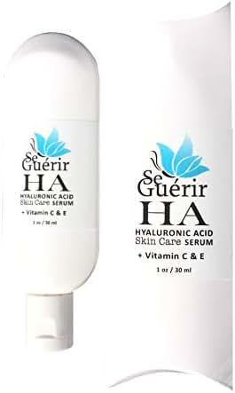 Botanical Hyaluronic Acid Serum Skin Care with Citrus Stem Cells, Vegan Ceramide & Vitamin C + E + B, 1 fl oz Amazing Results by Se Guérir