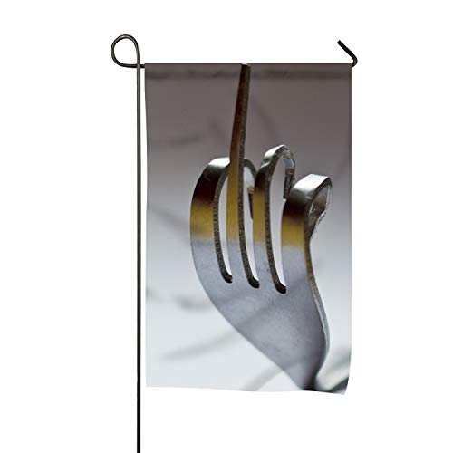 Rongx The Fork in The Middle Finger Winter Garden Flags Decorative 12x18(in) Emblemize House Outdoor Flag -