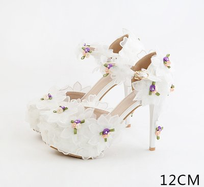 VIVIOO Beautiful Lace Wedding Prom Shoes Shoes amp; Flowers Sandals High New Super Shoes Sandals Bride Baotou Beige Fine Hollow Shoes Black 8 Heel Fashion Heel Dress rc1raEW