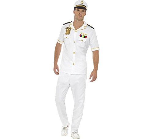 Smiffys Men's Captain Costume, White, Large]()