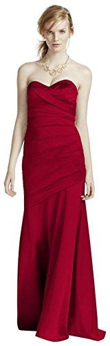 Long Strapless Stretch Satin Bridesmaid Dress Style F15586 – 2, Apple