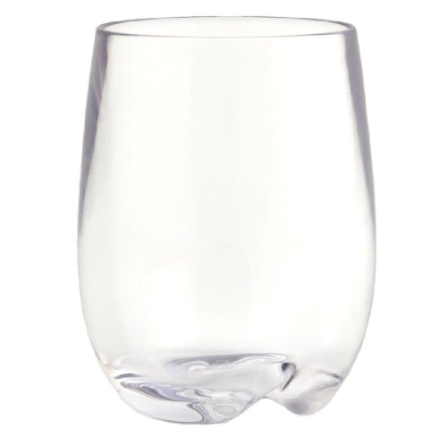 Strahl Design+Contemporary Osteria 8-Ounce Stemless Wine Glass, Set of 4 (Stemless Glassware)