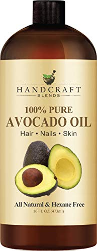 100% Pure Avocado Oil - HUGE 16 OZ - All Natural Premium Quality - Cold Pressed Carrier Oil for Aromatherapy, Massage & Moisturizing Skin – HEXANE FREE