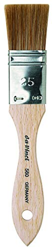 (da Vinci Oil & Acrylic Series 560 Paint and Varnish Brush, Flat Mottler Light Ox Hair Sabeline with Plainwood Handle, Size 25 (560-25))