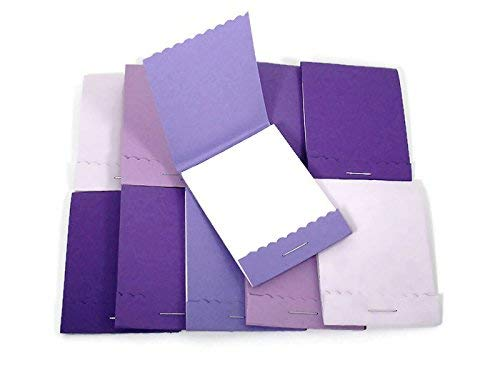 Mini Matchbook Notepads Party Favors in Purple Set of 20
