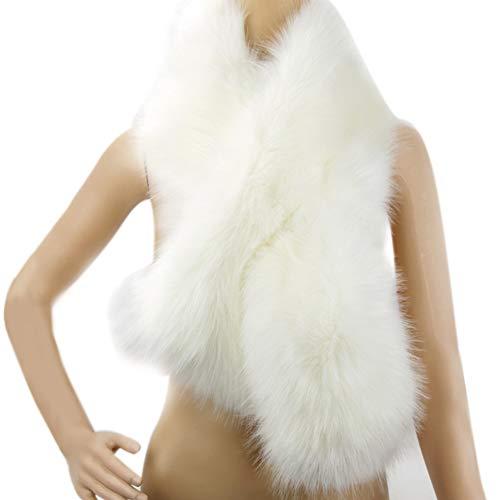 Dikoaina Women's Winter Fake Faux Fur Scarf Wrap Collar Shawl Shrug ()