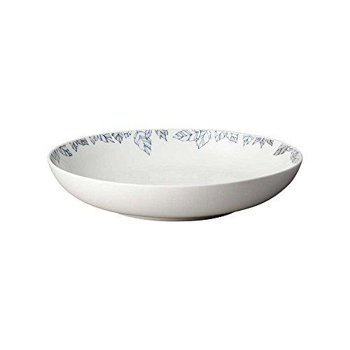 Denby Monsoon Fleur Pasta Bowl, China, Cream, 24 x 24 x 4 cm