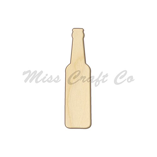 - Beer Bottle Wood Shape Cutout, Wood Craft Shape, Unfinished Wood, DIY Project. All Sizes Available, Small to Big. Made in the USA. 9 X 2.3 INCHES