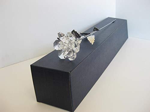 Sterling Gifts FINE Italian Silver & FINE Cut Crystal Long STEM Flower