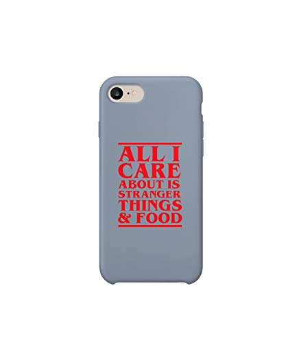 All I Care About is Stranger Things and Food_003087 iPhone 7 Case, Protective Phone Mobile SmartphoneCase Cover Hard Plastic for iPhone 7 iPhone 7s Funny Gift Christmas