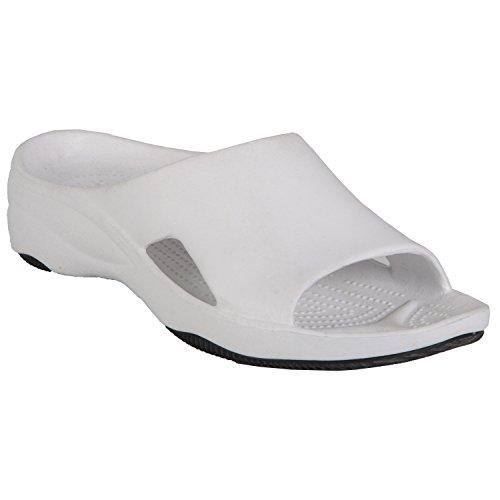 Dawgs Kvinners Premium Lysbilde Sandal Hvit / Svart