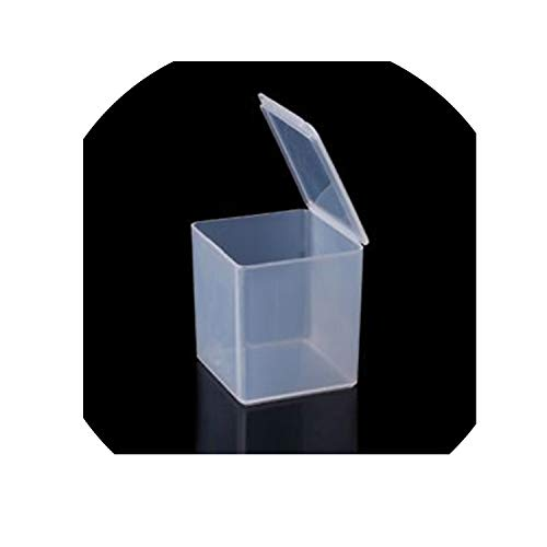 4 Size Small Square Clear Plastic Storage Box Storage Box for Jewelry Diamond Embroidery Craft Bead Pill Home Storage Supply,D ()