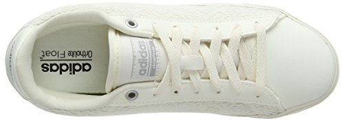 Blanc Daily Adidas chalk White Clean Sneakers matte Silver chalk Basses Qt Femme Cloudfoam White FFw50a