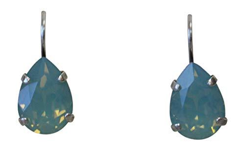 Mariana Pacific Green Teardrop Swarovski Crystal Drop Earrings -