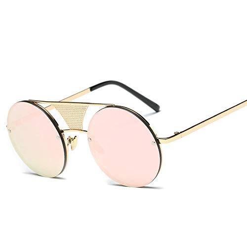 Homme Cadre Qualité 100 ZHRUIY Sports Femme Soleil Alliage 9 Protection Loisirs De Goggle A3 Couleurs UV Rétro Haute Round Lunettes qxSRt
