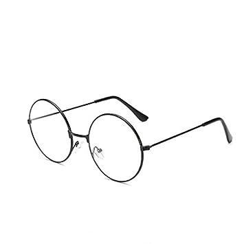 995919fc62274 Lunettes rétro rondes Luoem - Lunettes ultra légères avec verre transparent  - Pour les costumes du