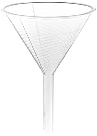 Bel-Art Scienceware Urbanti 146500000, 1532ml Capacity, Polymethylpentene Round High-Speed Filter Funnel, with Internal Helicoid Ribs to Increase Filtration Speed (Pack of 2)