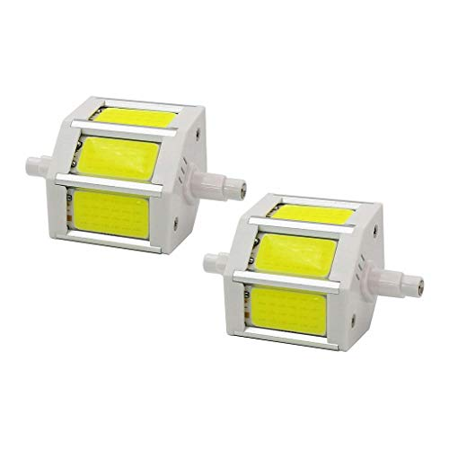 MD Lighting R7S 78mm 5W COB SMD LED Flood Light Spot Corn Light Lamp Bulb No-dimmable Daylight White 6000K LED Corn Light J Type Double Ended 40W R7S J78 Halogen Bulb Replacement,AC 85-265V, 2 Pcs ()