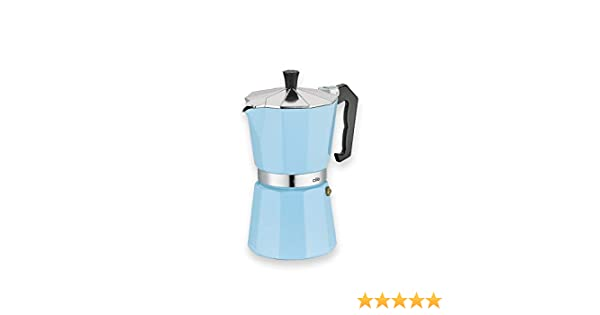 Cilio Classico - Cafetera italiana (6 tazas), color azul claro ...