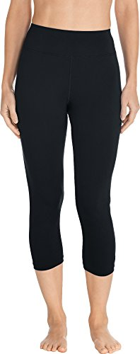 Coolibar UPF 50+ Women's Deep Water Swim Capris - Sun Protective (Small- Black) ()