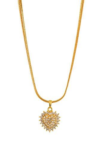 Handicraft Kottage Girl's Gold Plated Pendant (HK-SP-1070) by Handicraft Kottage