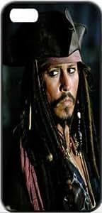 Pirates of the Caribbean - Jack Sparrow Pirates Actor Jack Depp Johnny Caribbean Sparrow Apple iPhone 5/5s SLIM Case Carcasa [SF Matte Black (negro)] SUPER SLIM + SF COATED + PERFECT FIT Caso duro Premium Funda Cáscara Caso Cubrir