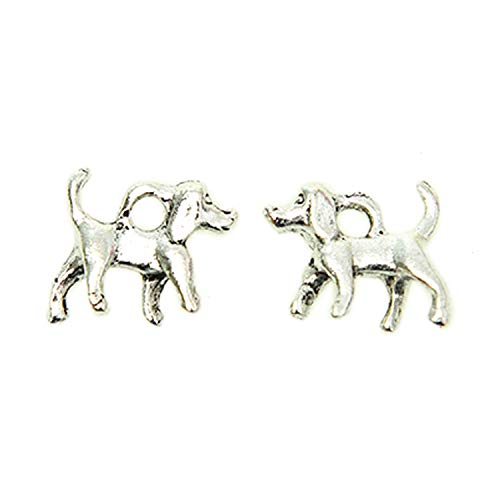- Monrocco 60 Pieces Antique Silver Tone Jewelry Making Charms Dog Charms Pendants Tibetan Accessories for Bracelets Necklace DIY
