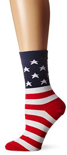 - K. Bell Women's Novelty Knee High Socks, Red/White/Blue, 9-11