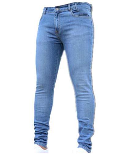 2 Skinny S In Chiaro Blu Jeans Effetto Elasticizzati Uomo Used Da Slim Denim Fit 3xl Pantaloni 4wxatUZfq