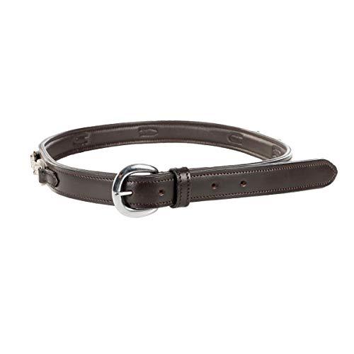 Horze Crystal Bit Leather Belt Black Medium/34